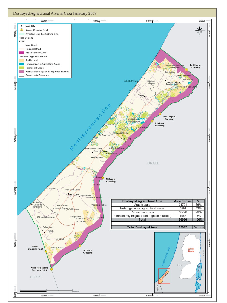 Destoryed agricultural are in Gaza January 2009.jpg